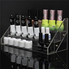 3 Tiers Clear Nail Polish Display Stand Acrylic Makeup Organizer Holder
