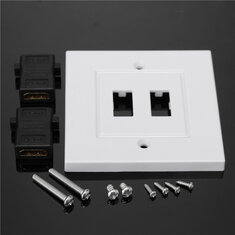86x86mm Wall Plate Socket Modular Faceplate Multi Media Stubs HDMI V2.0 4K