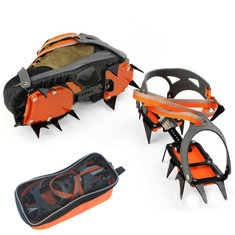 Anti-slip 12 Teeth IcE-mountain Climbing Walking Crampons Spikes Shoes Boots Gripper
