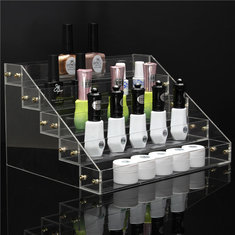 5 Tiers 40 Bottle Acrylic Nail Polish Display Stand Rack Cosmetic Varnish Holder Organizer