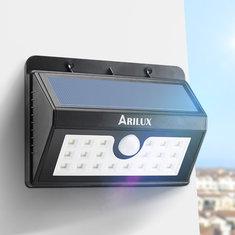 ARILUX® AL-SL02 Wireless Solar Powered 20 LED Waterproof PIR Motion Sensor Outdoor Wall Light
