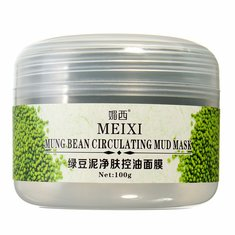 MEIXI Mung Bean Mud Deep Clean Blackhead Shrink Pore Whitening Mask