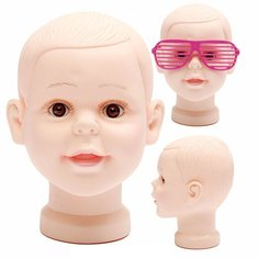 Children Kid Mannequins Manikin Head Wig Hair Hat Cap Glasses Display PVC Mannequin Model