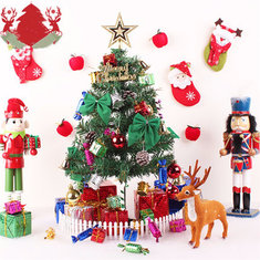 23PCS Christmas Tree Hanging Decoration Presents Santa Apples Bowknot Ornaments