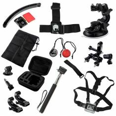 13 In 1 Chest Monopod Mount Adapter Case Belt Accessories Kit For GoPro Xiaomi Yi SJCAM Camera
