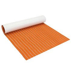1200x2000x6mm EVA Foam Orange With White Line Teak Sheet Synthetic Boat Decking Floor Pad