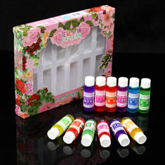 9.9ml 12 Bottles Pure Plant Essential Oil Set Lavender Ocean Jasmine Humidifier Spa Aromatherapy