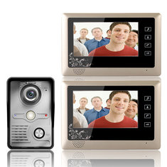 ENNIO SY809MKW12 7 Inch Video Door Phone Doorbell Intercom System 1-Camera 2-Monitor Night Vision