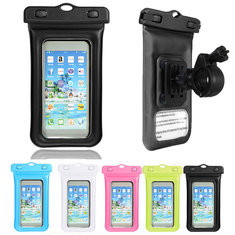 IPX8 Waterproof Phone Case Bag Cover Bicycle Holder Carabiner Armlet For iPhone Samsung HTC Smartphone
