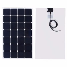 80W 12V 880mm x 540mm x 2.5mm Photovoltaic semi flexible Solar Panel With 3M Cable