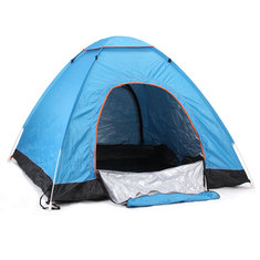 Outdoor 3-4 Persons Camping Tent Automatic Open Waterproof UV Beach Sunshade Canopy