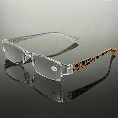 Yellow Spot Half Rimless Presbyopic Fatigue Relieve Reading Glasses Strength 1.0 1.5 2.0 2.5 3.0 3.5 4.0