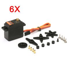 6X DS3218 Updated Servo 15KG Torque 270° Full Metal Gear Digital Servo