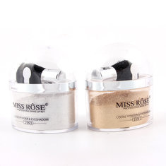 MISS ROSE 2 in 1 Highlighter Contour Make Up Eye Loose Powder Glitter Gold Eyeshadow Makeup Palette