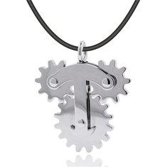 Stainless Steel Gear Spinner Pendant EDC Fidget Hand Spinner Gadget Reduce Stress Gadget
