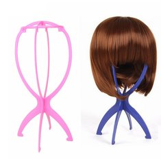 Folding Hair Wig Holder Caps Stands Hat Plastic Women Stable Durable Display Tool