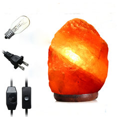 30 X 18CM Natural Himalayan Ionic Air Purifier Rock Crystal Salt Lamp Table Night Light