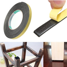 Safety Black Single Sided Adhesive Foam Cushion Tape Closed Cell ​5m x 2mm x 10mm