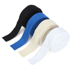 25mmx5m Cotton Webbing DIY Backpack Craft Strapping Tape Cream/White/Black