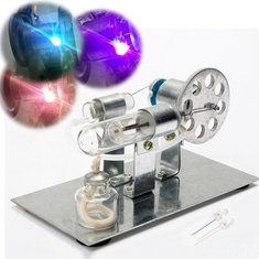 Mini Hot Air Stirling Engine Model Miniature Steam Gas Engine External-Combustion Engine