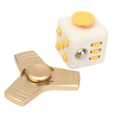 ECUBEE Stress Dice And Gold  Fidget Spinner Hand Spinner Gadget Spinner Finger Reduce Stress Gadget