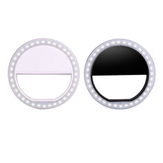 Portable LED Ring Flash Light Camera Photography Adapter For IPhone Mobile Phone