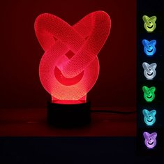 3D illusion Optical 7 Color Changing Night Touch USB LED Desk Table Light Lamp