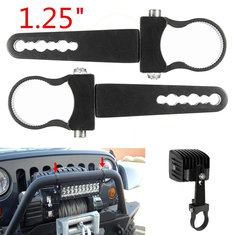 2x 1.25 inch Mount Bracket Clamps Bumper LED Light Bar Roll Cage For Off Road