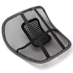 Car Seat Chair Massage Back Lumbar Support Mesh Ventilate Cushion Pad