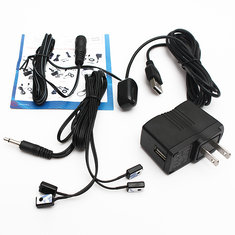 IR Extender 1 Receiver 4 Emitters Repeater Kit Hidden Infrared Remote