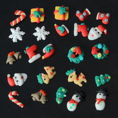 12 Styles 3D Christmas Snowman Gift Nail Art Phone Decoration