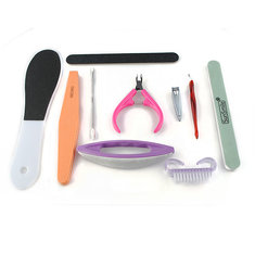 10Pcs Basic Nail Art Tools Kit Set