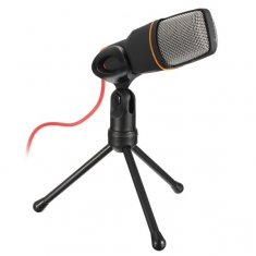 SF-666 Multimedia Studio Wired Condenser Microphone with Tripod Stand