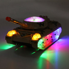 Army Tank Moving Sounding Flashing Wheel LED Lights Colorful