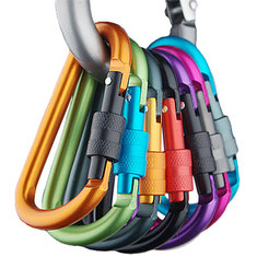 Outdoor Multi Colors Safety Buckle Aluminum Carabiner Key Chain