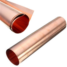 1pc 99.99% Pure Copper Metal Safe Sheet Foil For Handicraft Aerospace 0.1x200x500mm