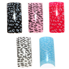 100pcs Acrylic UV French Half False Nail Art Tips 10 size
