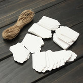 100pcs Scallop Kraft Paper Label Party Wedding Gift Name Cards Tags Hand Draw Name Card