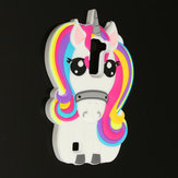 3D Cute Unicorn Horse Silicone Phone Case Shell Cover For LG K7/Q7/K8