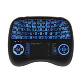 Original iPazzPort KP-810-21T-RGB Mini Airlight retroiluminado en tres colores, Teclado, Airmouse