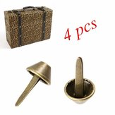 4pcs Antique Buckets Foot Nail Spikes Brads luggage Bag Suitcase Ail Decoration Nail Foot