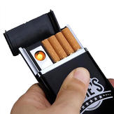 Original Black Arc USB Electric Rechargeable Flameless Lighter Cigarette Case Box