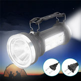 Solar Powered Portable Flashlight LED Camping Lantern Rechargeable Outdoor Emergency Lamp AC110-240V
