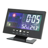 Color LCD Screen Calendar Digital Clock Car Thermometer Weather Forecast Black