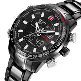 NAVIFORCE NF9093 Fashion Man Dual Display Watch Multifunction Stainless Steel Sport Watch