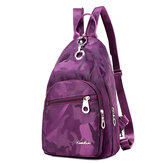 Women Nylon Camouflage Backpack Girls Outdoor Sports Multifunction Chest Bags Shoulder Bags