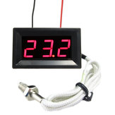 Red LED DC 12V Digital Thermocouple Thermometer Temperature meter 0~999°C with Probe
