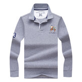 Men's Fashion Embroidery LOGO POLO Shirt Casual Business Lapel T-shirt