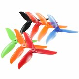 2 Pair DALPROP T5045C Cyclone 5 Inch 3 Blade Propeller Clover Prop Black Red Orange Green