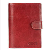 Original Mujer Vacuno Piel Genuina Wallet Passport Holder